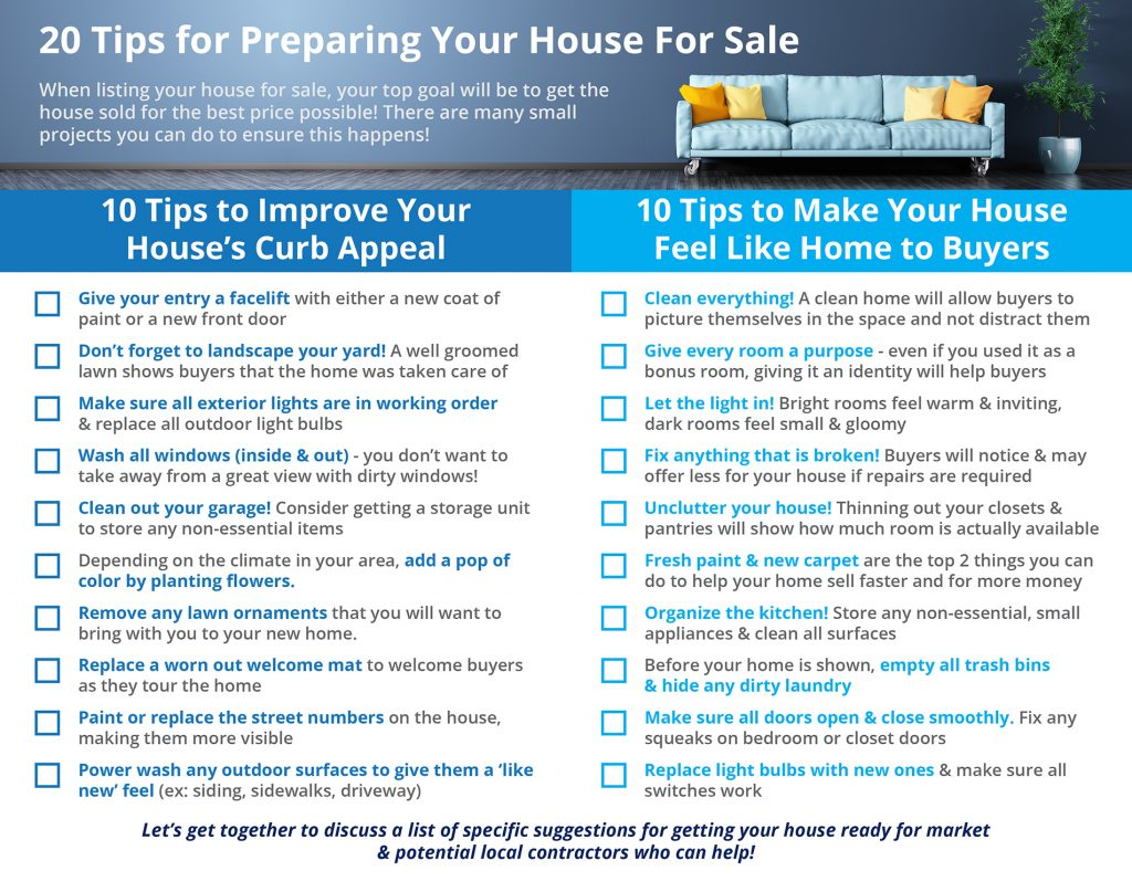 20 TIPS For Preparing Your House For Sale This Fall! Sacramento, CA